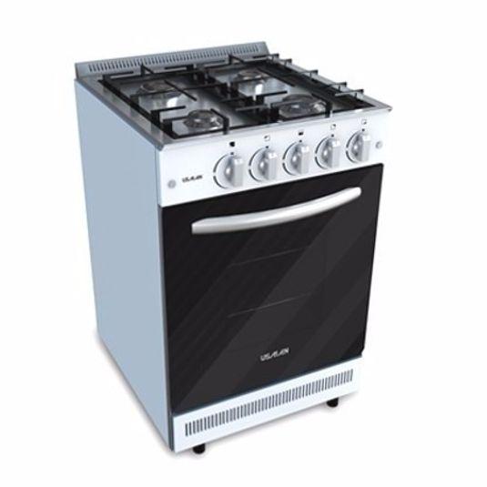 Cocina a gas usman semi industrial blanca 550 multigas for Cocina industrial blanca